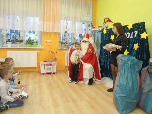Przedszkole Radgoszcz - wizyta św. Mikołaja